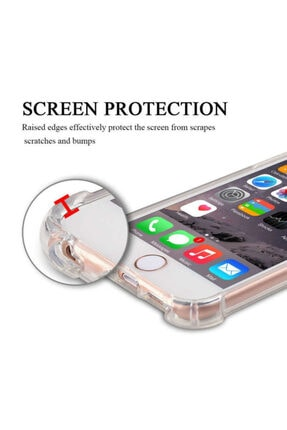 Yeni1Trend Apple Iphone 7 Plus Kılıf Şeffaf Silikon Tam Korumalı Dayanıklı 1