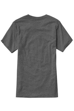 Sivugin Koyu Gri Pamuklu Yuvarlak Yaka Kısa Kol Erkek Spor T-shirt 3