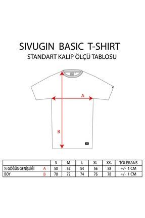 Sivugin Koyu Gri Pamuklu Yuvarlak Yaka Kısa Kol Erkek Spor T-shirt 4