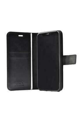 Mobilteam Oppo A5 2020 Kılıf Kapaklı Pocketdelux - Siyah 3