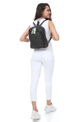 Lolinna Siyah Kadın Şeffaf Kolon Detaylı Iki Bölmeli Sırt Çantası Lolina001 2