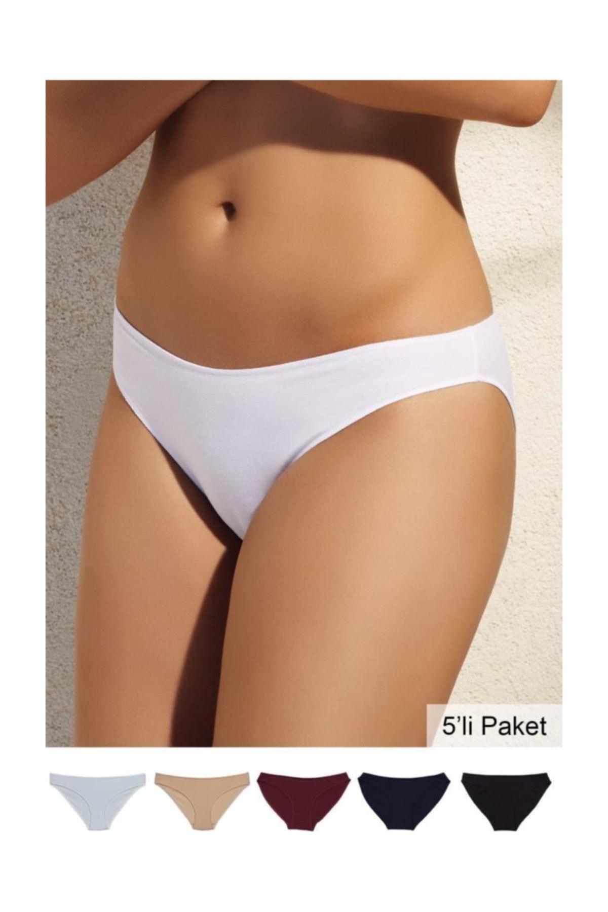 NoShow Bikini 5li Paket Külot Karışık Renk