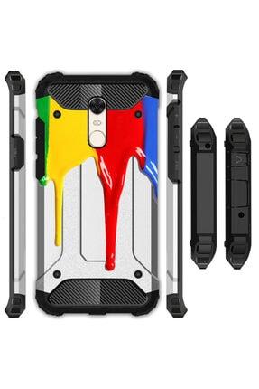 cupcase Xiaomi Redmi 5 Plus Kılıf Desenli Sert Korumalı Kapak - Akan Boya 0