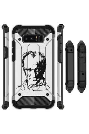 cupcase Xiaomi Redmi Note 8 Kılıf Desenli Sert Korumalı Zırh Tank Kapak - Atatürk 0