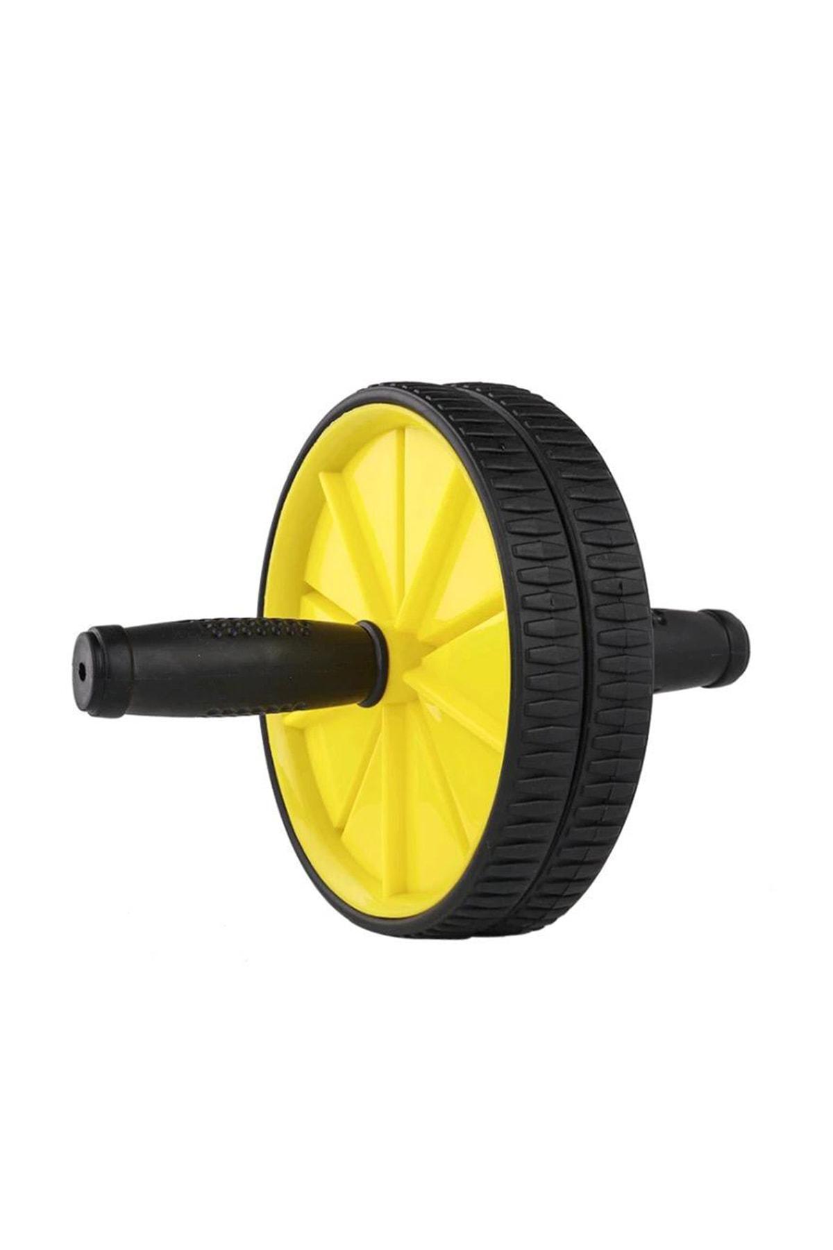 Leyaton Fitness Karın Kası Sixpack Egzersiz Tekeri Spor Aleti Sarı 0