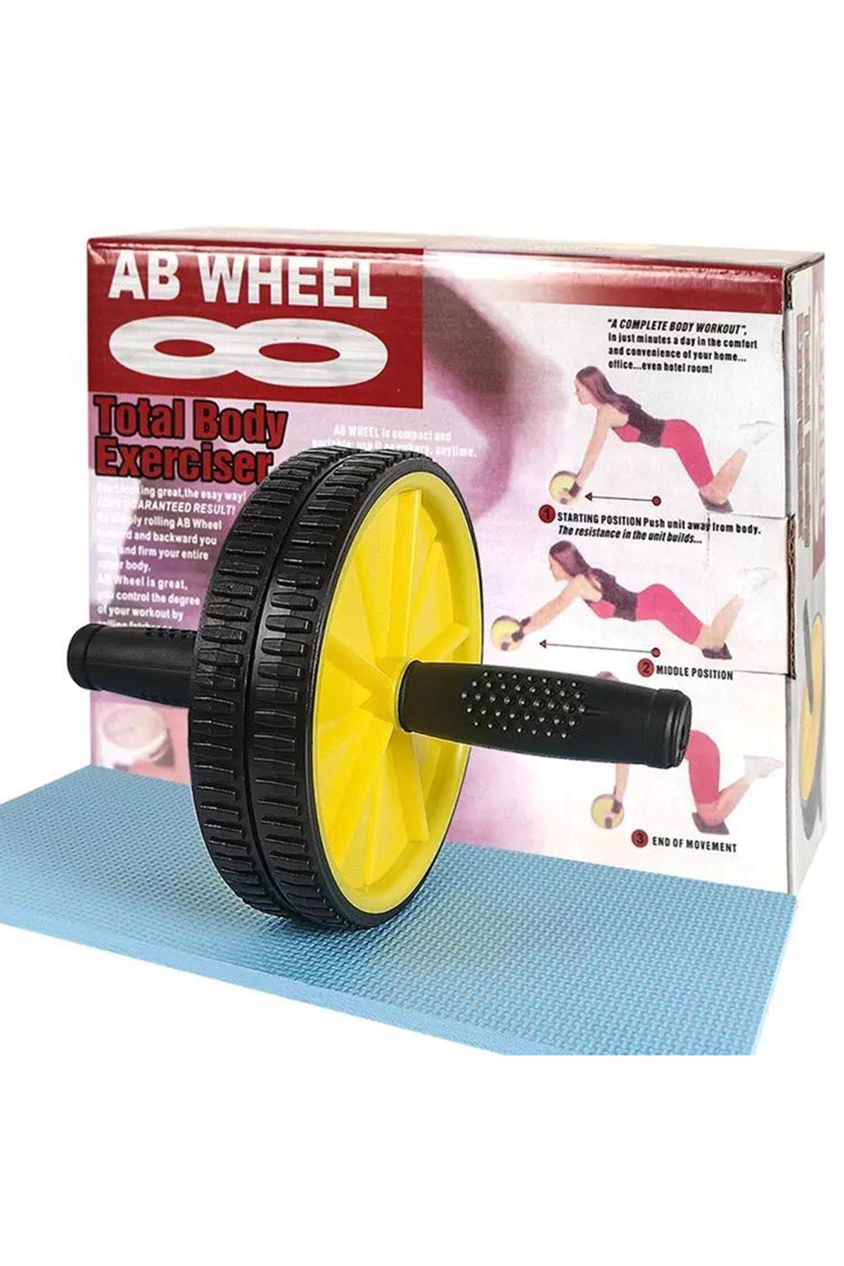Leyaton Fitness Karın Kası Sixpack Egzersiz Tekeri Spor Aleti Sarı 3