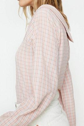 Koton Kadın Pembe Yaka Detaylı Bluz 9YAL69097IW 4
