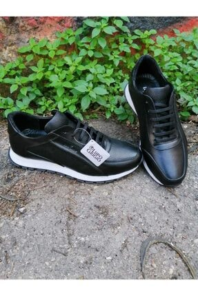 Lupo Grigio Erkek Siyah Hakiki Deri Casual Ayakkabı  (501) 0