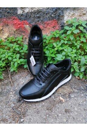 Lupo Grigio Erkek Siyah Hakiki Deri Casual Ayakkabı  (501) 1