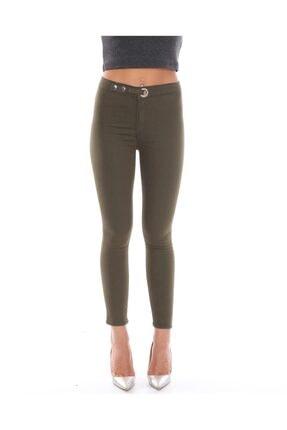 trendmany Kadın Kemerli Skinny Likralı Arkası Çift Cepli Dar Paça Pantolon 0