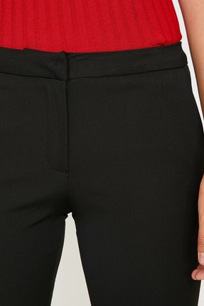Koton Kadın Siyah Dar Kesim Pantolon 9KAK42542RW 4