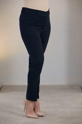Rmg Kadın Lacivert Büyük Beden Kumaş Pantolon 2