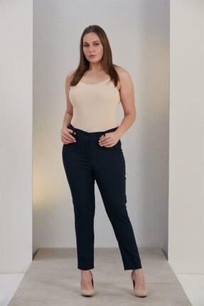 Rmg Kadın Lacivert Büyük Beden Kumaş Pantolon 3