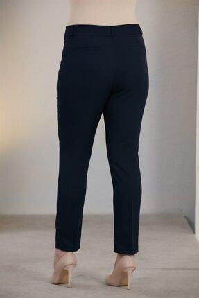 Rmg Kadın Lacivert Büyük Beden Kumaş Pantolon 4