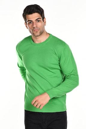 Trist Star Çimen Yeşili Erkek Pamuklu Bisiklet Yaka Triko Kazak 1