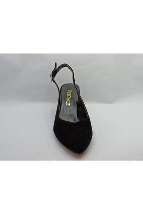 Beyonce Kadın Siyah Süet Kısa Topuk Ayakkabı 0