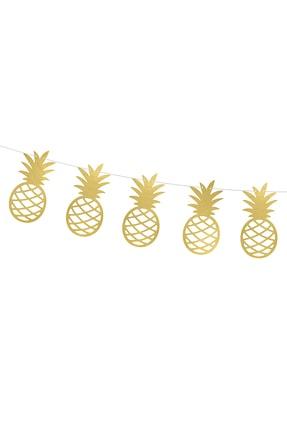 KullanAt Market Altın Ananas Kağıt Afiş 1,5 m 1 Adet 1