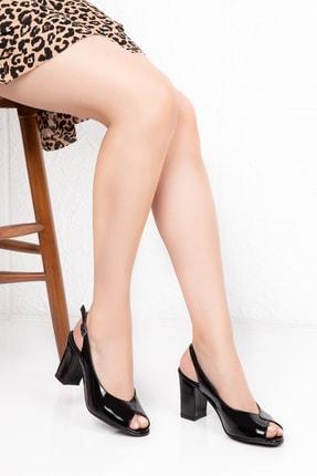 Potini Ayakkabı Kadın Siyah Topuklu Ayakkabı 1
