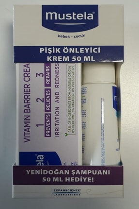 Mustela Pişik Önleyici Krem 50ml + Yeni Doğan Şampuanı 50 Ml 0
