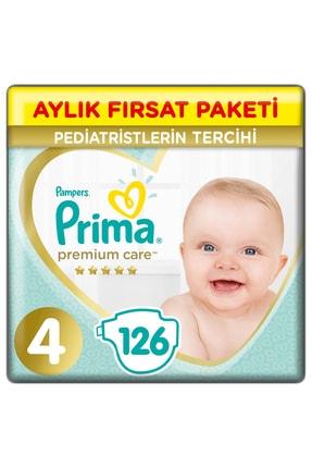 Prima Bebek Bezi Premium Care 4 Beden 126 Adet Maxi Aylık Fırsat Paketi 0