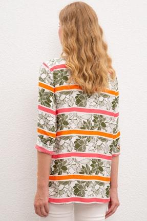 US Polo Assn Yesil Kadın Dokuma Gömlek 2