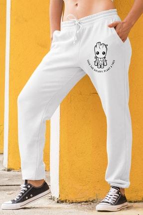 Angemiel Wear Groot Kadın Eşofman Takımı Beyaz Kapşonlu Sweatshirt Beyaz Eşofman Altı 1