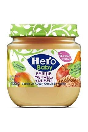 Hero Baby Karışık Meyveli Yulaflı Kavanoz Maması 125 gr 0
