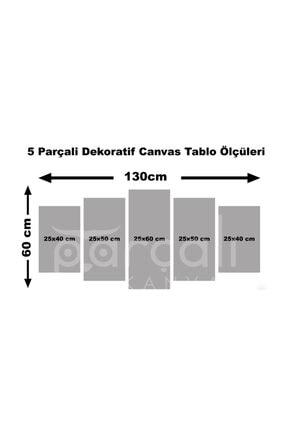 simlitablo 5 Parçalı Kanvas Tablo (5kk71) 2