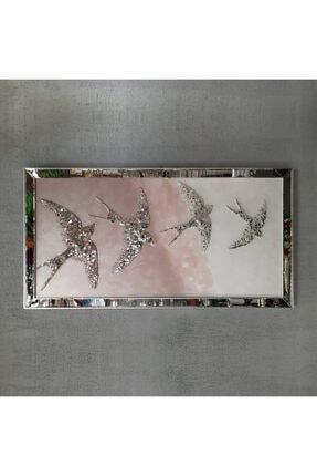 Atlantis Tablo Kırlangıç Pudra Dörtlü Mozaik Ayna 80x155 Cm 0