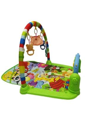 huanger Piyanolu Bebek Oyun Halısı Eğitici Oyuncak Mavi Ekonomik Model 1