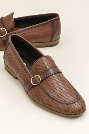 Elle BOLAND Hakiki Deri Taba Erkek Ayakkabı 0