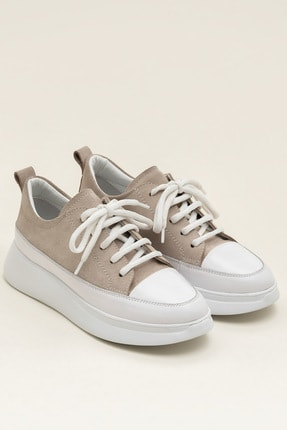 Elle FANCY Bej Süet/Beyaz Kadın  Sneaker 20YSE192404 1