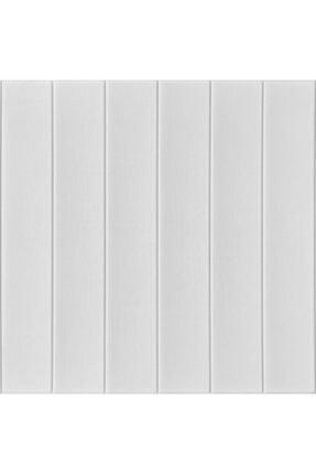 Renkli Duvarlar Kendinden Yapışkanlı Beyaz Ahşap Desen Esnek Sünger Duvar Paneli 2