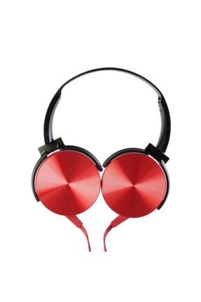 MF PRODUCT 0106 Mikrofonlu Kablolu Kulak Üstü Kulaklık Kırmızı 2