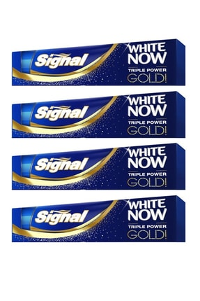 Signal White Now Gold Diş Macunu 75 ml X 4 Adet 0