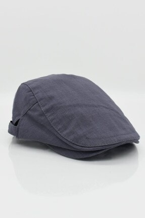 Külah Erkek Şapka Yazlık Keten Spor Kasket - Gri 0