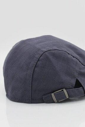 Külah Erkek Şapka Yazlık Keten Spor Kasket - Gri 4