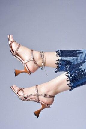Tessera Kadın Bej Topuklu Sandalet 1