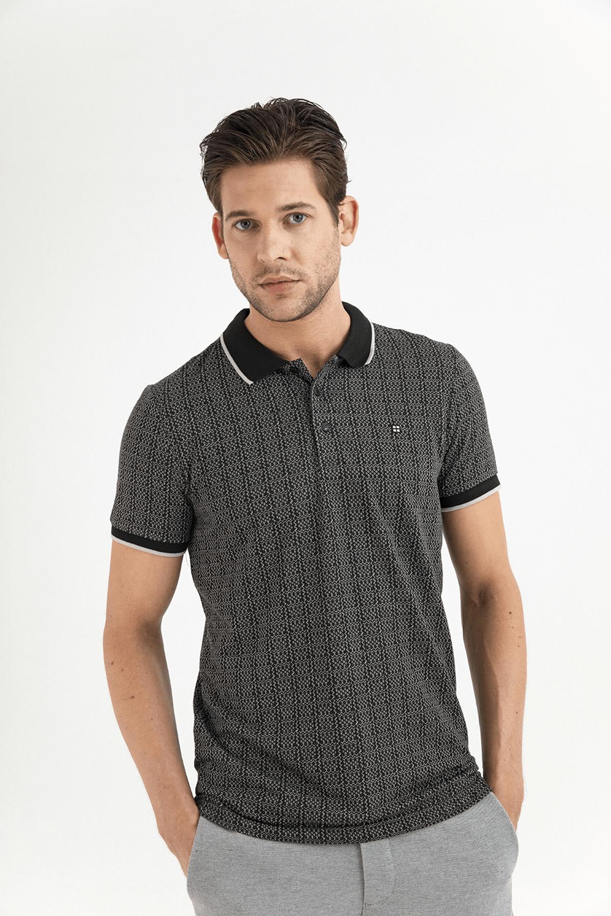 Avva Polo Yaka Jakarlı T-Shirt 0