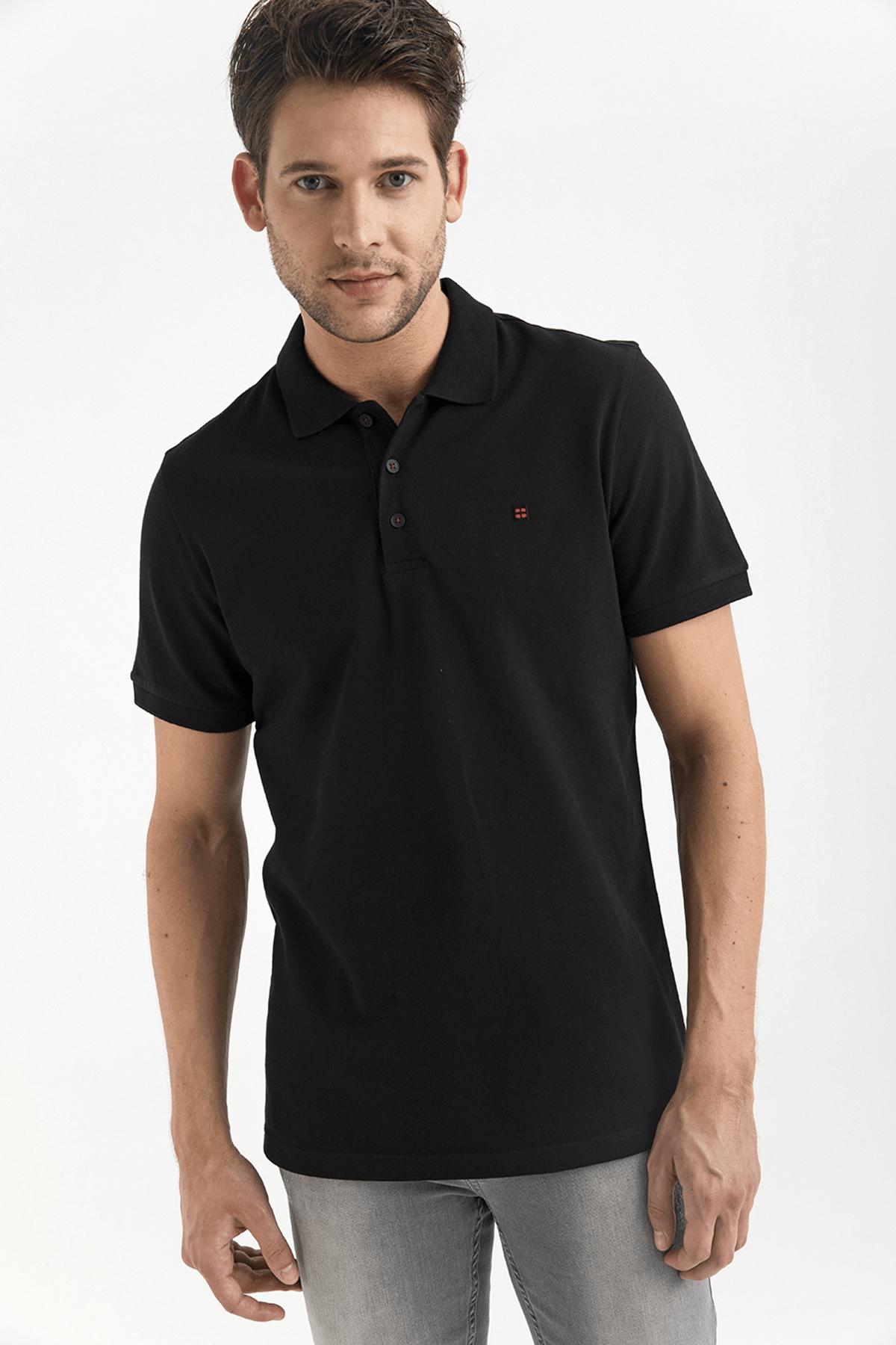 Avva Polo Yaka Düz T-Shirt 0