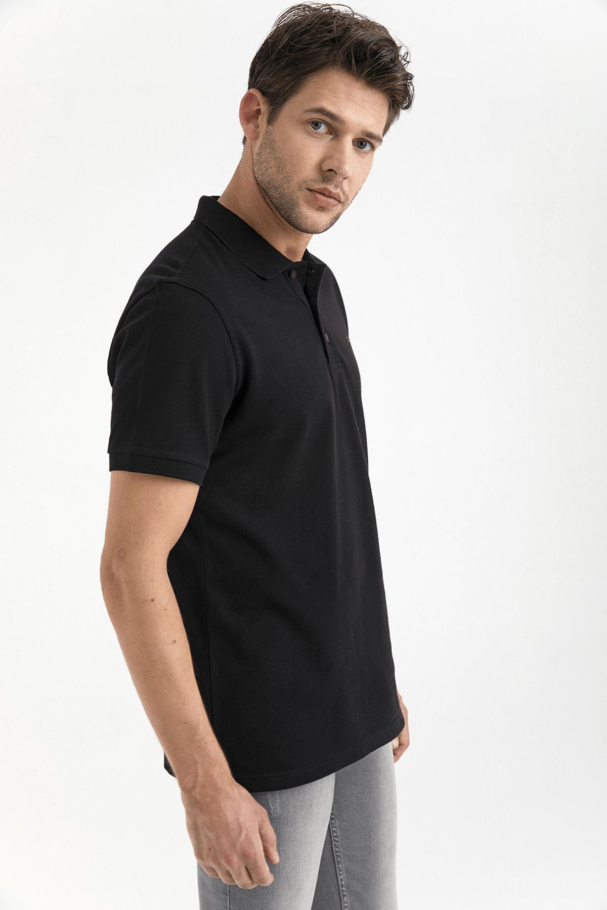 Avva Polo Yaka Düz T-Shirt 2