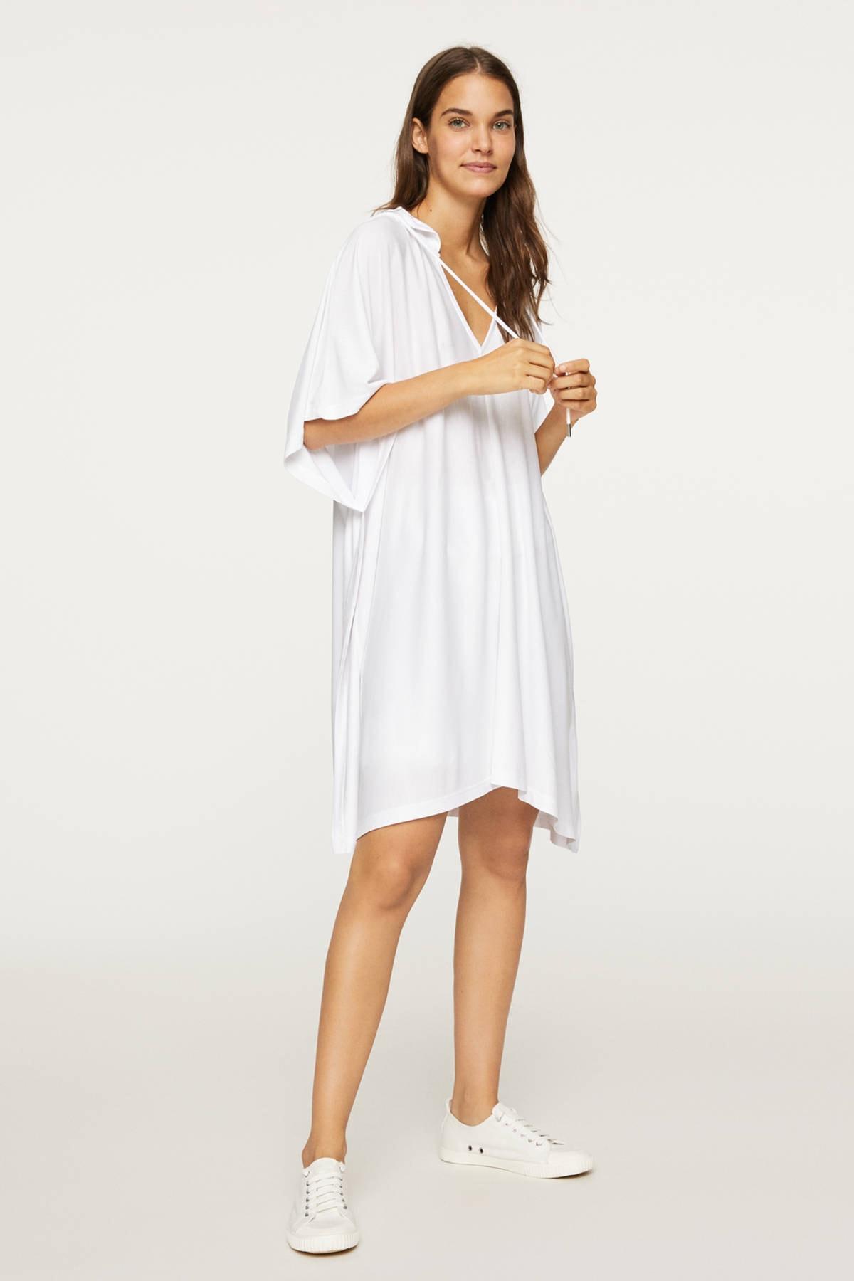 Oysho Kadın Beyaz Panço Tarzı Oversize Modal Sweatshirt 1