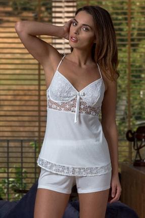 Barina Pijama Çeyizlik 6 Parça Dantel Detaylı Penye Gecelik-Sabahlık Takımı 2