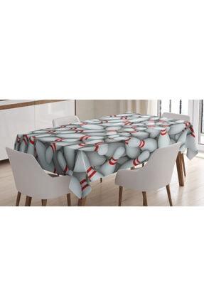 Orange Venue Hobiler Masa Örtüsü Kırmızı Beyaz Labutlar Rengirenk 0