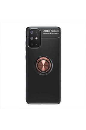 Samsung A31 Yüzüklü Silikon Kılıf Siyah 0