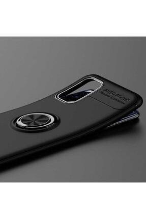 Oppo A52 Yüzüklü Silikon Kılıf Siyah 1