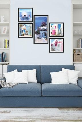 Cadran Collage Style 5 Parçalı Mdf Tablo Atf207 0