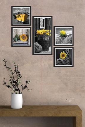 Cadran Collage Style 5 Parçalı Mdf Tablo Atf296 0