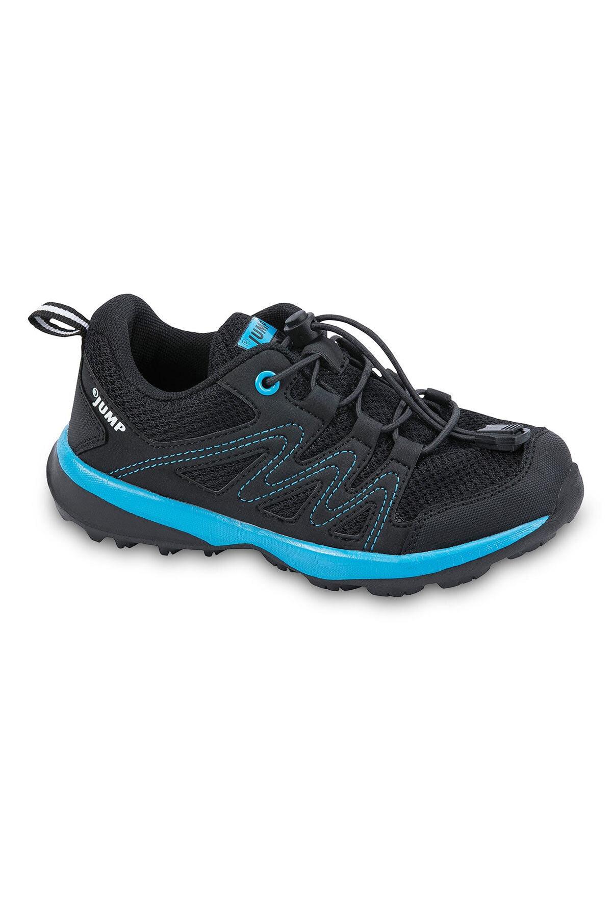 24802 Siyah - Mavi Erkek Çocuk Spor Ayakkabı