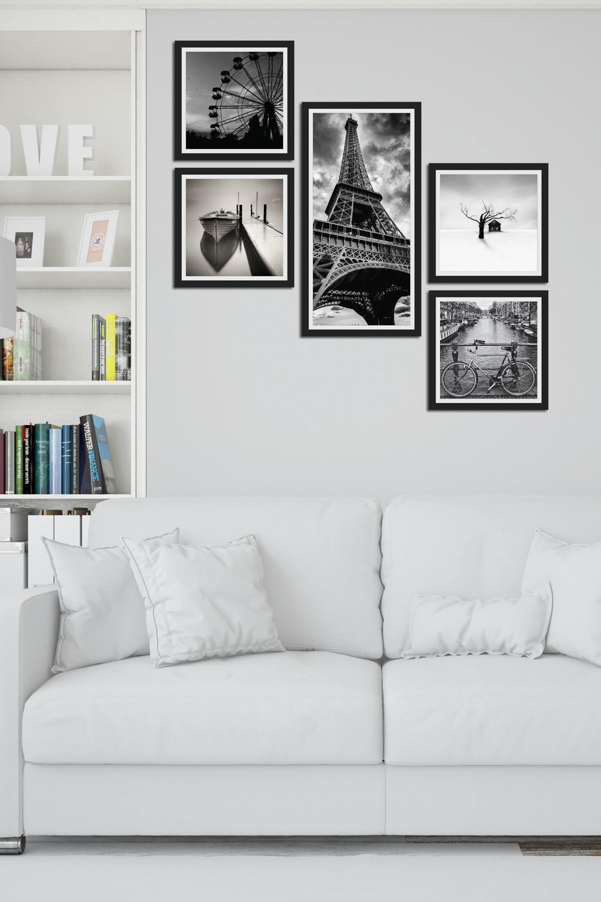 Collage Style 5 Parçalı Mdf Tablo Atf205